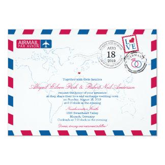 Airmail Germany Wedding Card