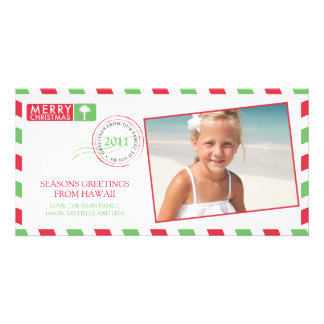 Airmail Holiday Greeting Card Picture Card