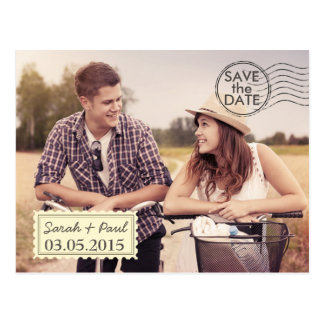 Airmail Photo Save The Date Postcard