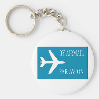 Airmail sticker effect keychain