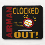 Airman Clocked Out Mousepads
