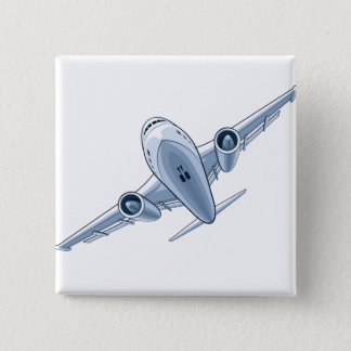 Airplane 2 Inch Square Button