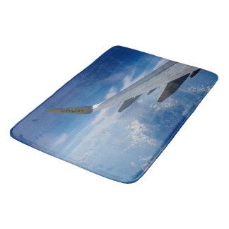 Airplane above the Clouds Bath Mat