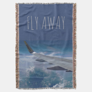 Airplane above the Clouds (customizable) Throw Blanket