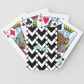 Airplane - Abstract geometric pattern - blue. Bicycle Playing Cards