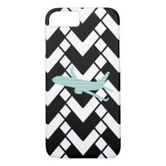 Airplane - Abstract geometric pattern - blue. iPhone 8/7 Case