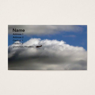 Airplane and clouds business card