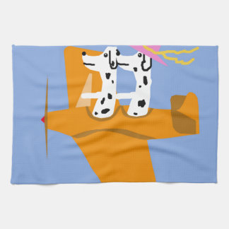 Airplane and Dalmatians Hand Towels