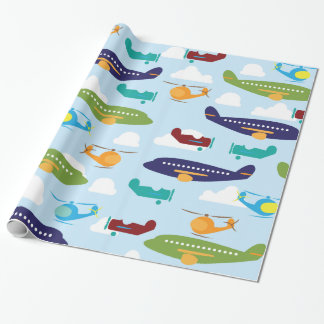 Airplane Aviation Theme Gift Wrap
