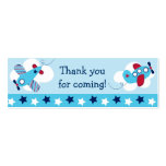 Airplane Aviator Goodie Bag Tags Gift Tags Business Cards