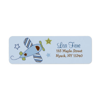 Airplane Baby Shower Address Labels