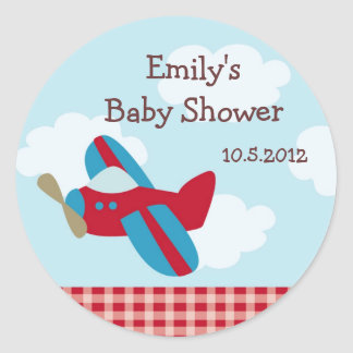 Airplane  Baby Shower Stickers