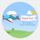 Airplane Banner Boy Birthday Party Stickers