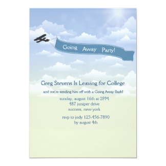 Airplane Banner Going Away Invitation
