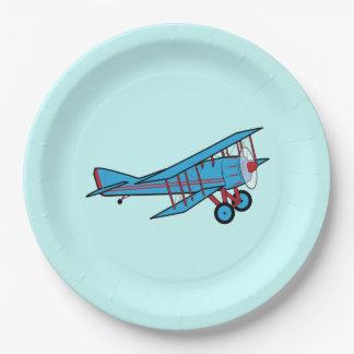 Airplane: Biplane Paper Plate