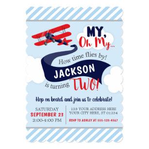 airplane birthday invitations announcements zazzle ca