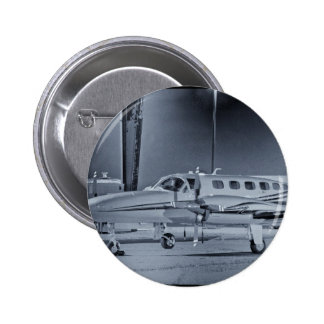 Airplane black white photo picture HDR T-Shirt Pins