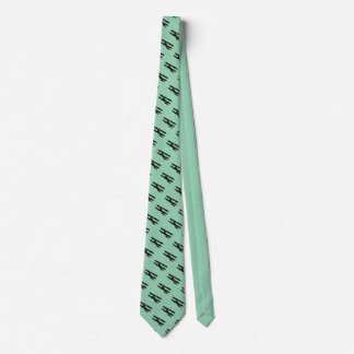 Airplane Blue Green Tie