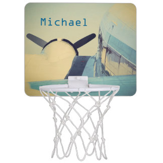 Airplane Blues Mini Basketball Goal Mini Basketball Hoop