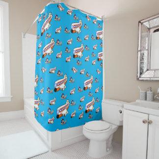 Airplane childrens shower curtain