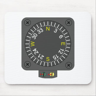 Airplane Compass Mouse Pad