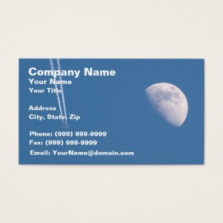 Airplane Crossing the Sky Business Card