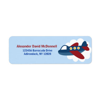 Airplane Custom Address Labels