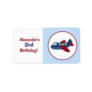 Airplane Custom Baking Labels or Stickers