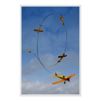 Airplane doing an Aerobatic Loop Poster