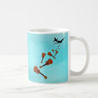 Airplane Dropping Ukuleles Coffee Mug
