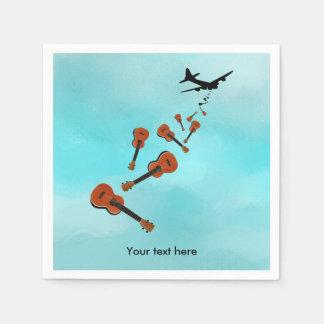 Airplane Dropping Ukuleles Disposable Napkin