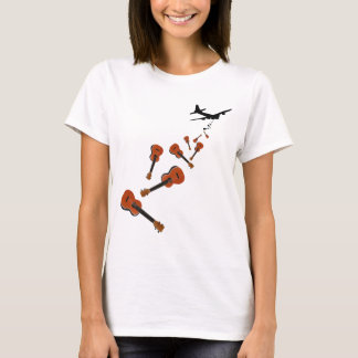 Airplane Dropping Ukuleles T-Shirt