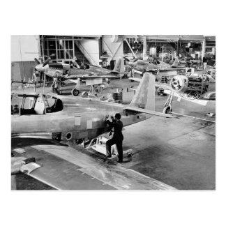Airplane Factory: 1940 Postcard