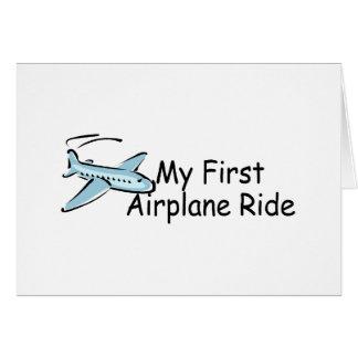 Airplane First Airplane Ride Card