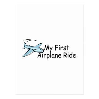 Airplane First Airplane Ride Postcard
