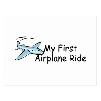Airplane First Airplane Ride Postcard