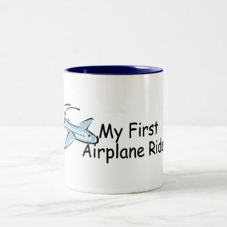 Airplane First Airplane Ride Two-Tone Coffee Mug