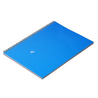 Airplane flying high on a clear sky notebook