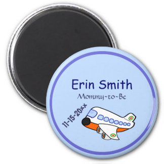 Airplane for Baby Shower 2 Inch Round Magnet