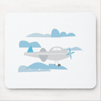 Airplane In Clouds Mouse Pad