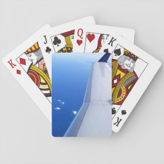 Airplane in Sky Photo Playing Cards