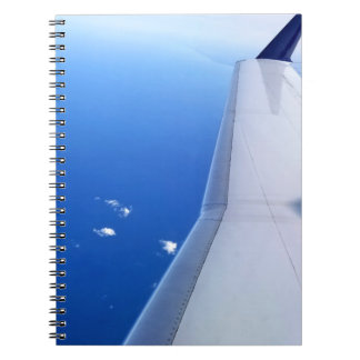 Airplane in Sky Photo Spiral Notebook