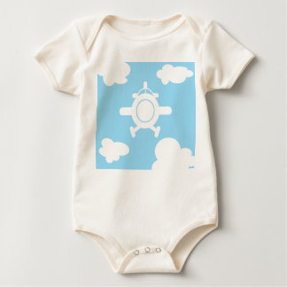 Airplane in the sky baby bodysuit