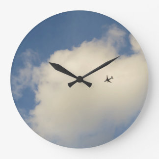 Airplane in the Sky Wall Clock