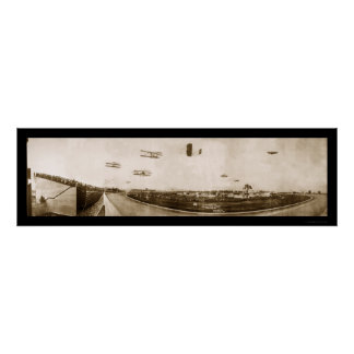 Airplane Indianapolis Photo 1910 Poster