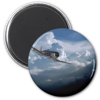 Airplane items 2 inch round magnet