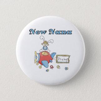 Airplane It's a Boy New Nana 2 Inch Round Button