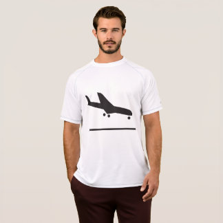 Airplane Landing Sign Mens Active Tee