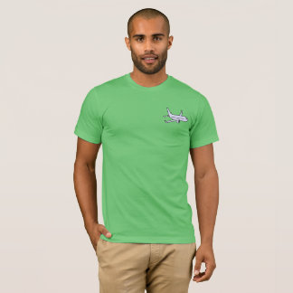 Airplane Men's Super Soft T-Shirt -Grass Green