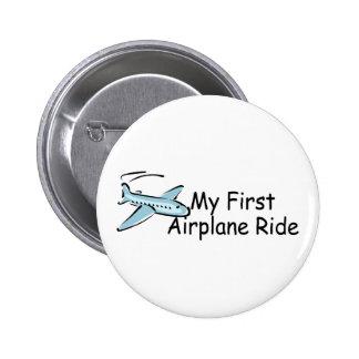 Airplane My First Airplane Ride 2 Inch Round Button